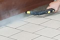 doczyszczanie podłogi parownicą
